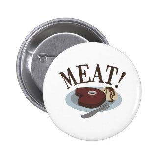 Meat Steak 2 Inch Round Button