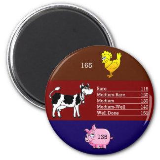 Meat temperature magnet