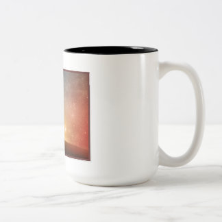 meat wrapped skeleton Two-Tone coffee mug