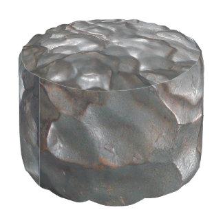Meatallic_Meteorite_Rock,_Full_Print_Pouf Round Pouf