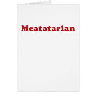 Meatatarian Card