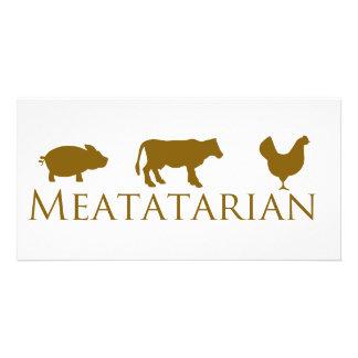 Meatatarian clásico tarjeta fotografica
