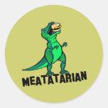 Meatatarian Classic Round Sticker
