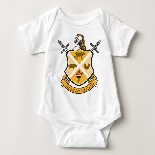 Meatatarian Coat Of Arms Baby Bodysuit