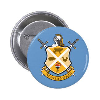 Meatatarian Coat Of Arms 2 Inch Round Button