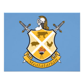 Meatatarian Coat Of Arms Custom Invite