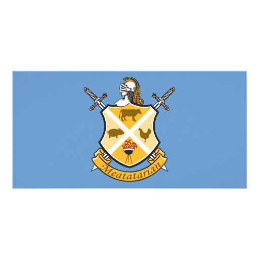 Meatatarian Coat Of Arms Customized Photo Card