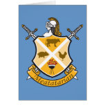 Meatatarian Coat Of Arms Greeting Card