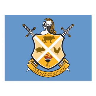 Meatatarian Coat Of Arms Postcards