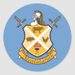 Meatatarian Coat Of Arms Round Sticker