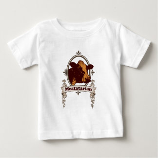 Meatatarian Cow Banner Baby T-Shirt