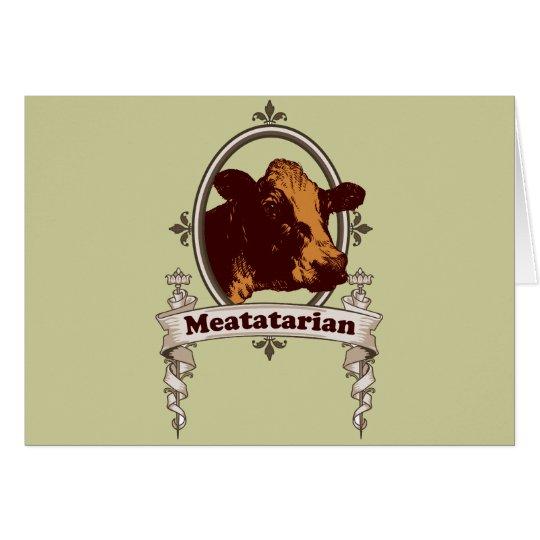 Meatatarian Cow Banner Card