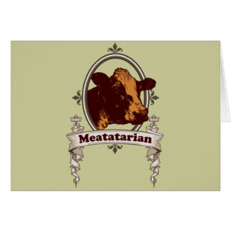 Meatatarian Cow Banner Cards