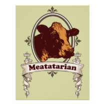 Meatatarian Cow Banner Flyer
