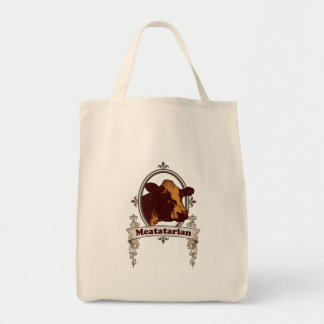 Meatatarian Cow Banner Tote Bag