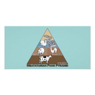 Meatatarian Food Pyramid Custom Photo Card
