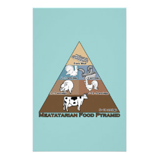Meatatarian Food Pyramid Stationery