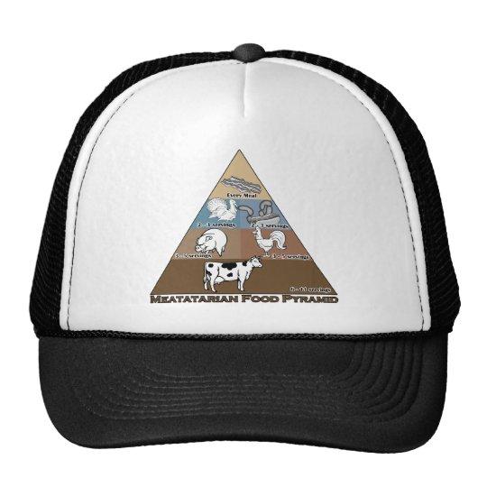Meatatarian Food Pyramid Trucker Hat