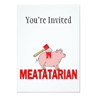 Meatatarian Forever Card