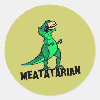 Meatatarian Pegatina Redonda