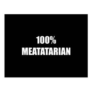 Meatatarian Postcard