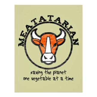 Meatatarian que ahorra el planeta tarjetones