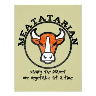 Meatatarian que ahorra el planeta plantilla de membrete