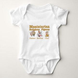 Meatatarian Religious Figures Baby Bodysuit