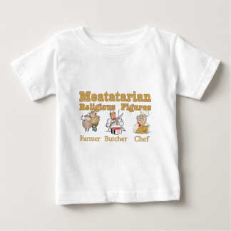 Meatatarian Religious Figures Baby T-Shirt