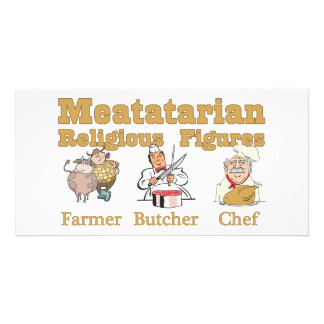 Meatatarian Religious Figures Card