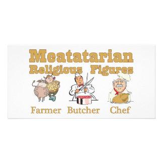 Meatatarian Religious Figures Custom Photo Card
