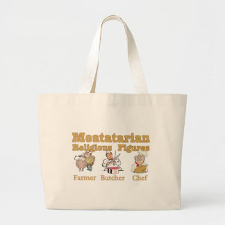Meatatarian Religious Figures Large Tote Bag