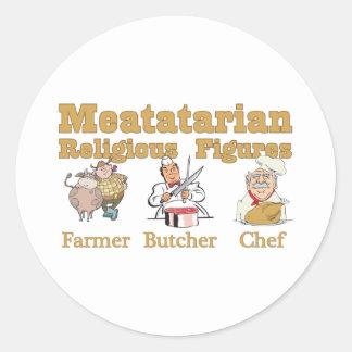 Meatatarian Religious Figures Sticker