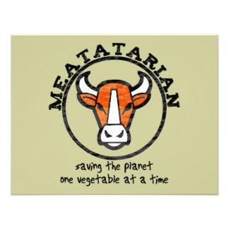 Meatatarian Saving The Planet Custom Invitation