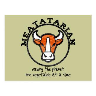 Meatatarian Saving The Planet Postcard