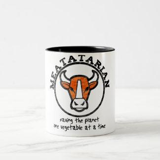 Meatatarian Saving The Planet Two-Tone Coffee Mug