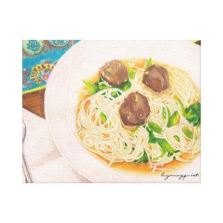 Meatball soup kitchen canvas