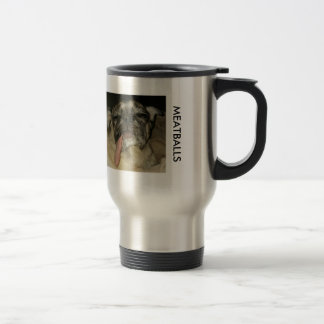 MEATBALL Stainless Steel 15 oz Travel/Commuter Mug
