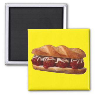 Meatball Sub 2 Inch Square Magnet