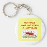 meatballs basic round button keychain