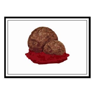 Meatballs in Sauce Business Card