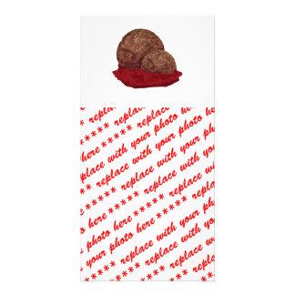 Meatballs in Sauce Photo Card Template