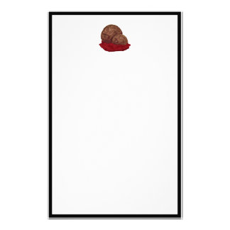 Meatballs in Sauce Personalized Stationery