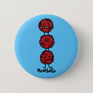 Meatballs Meatball stacked on top of each other Button