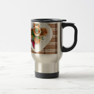 Meatballs of minced chicken with red pepper travel mug