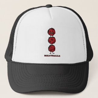 Meatballs stack trucker hat