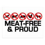 Meatfree y orgulloso postales