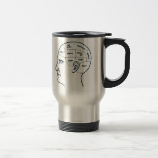 Meathead Phrenology Travel Mug
