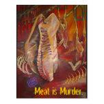 meatismurder tarjeta postal
