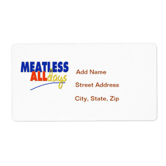 Meatless All Days Label